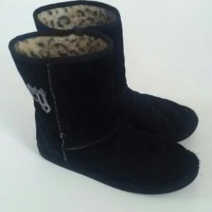 Juicy Couture Sequin Black Malia Boots Size 10